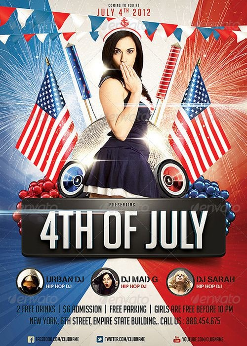 25 Best 4Th Of July/Memorial Day Images On Pinterest | Flyer