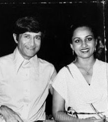 Dev Anand and Reena Roy