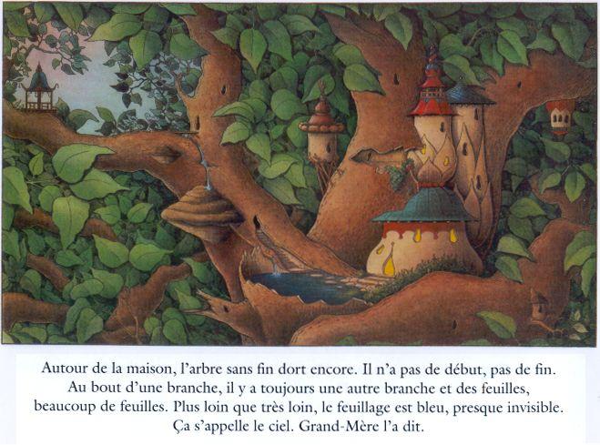 ¤ Extrait de 'l'arbre sans fin' par Claude Ponti. Édition Ecole des Loisirs.