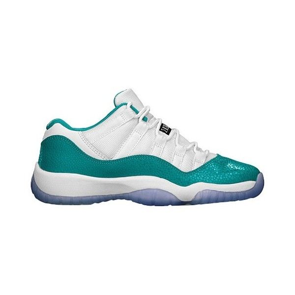 Jordan Retro 11 Low Girls' Grade School ($103) ❤ liked on Polyvore featuring shoes, jordans, sneakers and items