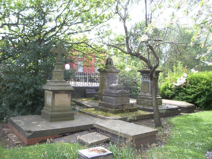 Victorian graves in St Leonard's churchyard