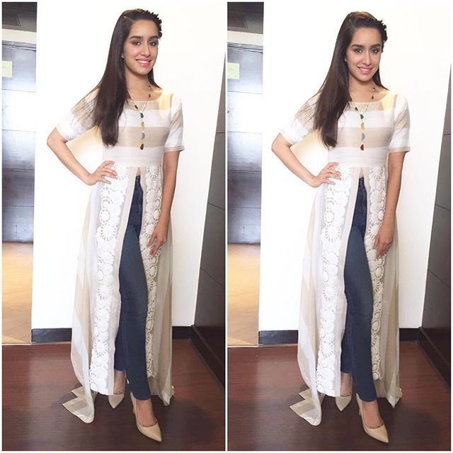 Instagram media by shraddhakapoor - Today in Jaipur! Wearing @padmasitaa Styled by @tanghavri Make up by @shraddha.naik Hair by @amitthakur26 ❤️ #BaaghiOn29thApril                                                                                                                                                                                 More