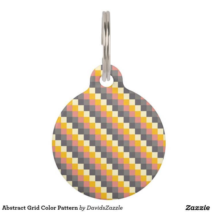 Abstract Grid Color Pattern Dog Tags  Personalize on the back! See the Link!  Available on more products! Just click the 'Available On' link on this product's page! Thanks for looking!  @zazzle #art #abstract #grid #pattern #orange #grey #gray #yellow #square #modern #fashion #style #dog #bed #pet #supplies #collar #leash #tags #fun #sweet #neat #chic #modern #grid #pattern #shop #buy #sale