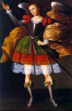 Angel Zadquiel- Bolivian baroque painting