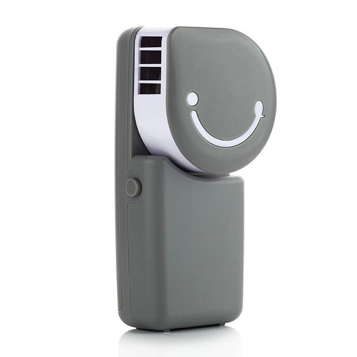 Moda Sonrisa Recargable Silencio Ventilador USB MINI Ventilador de Escritorio No Leaf Aire Acondicionado Controlador Del Ventilador Ventilador De Mesa