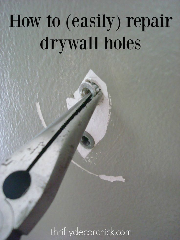 How to Easily Patch Holes in Drywall from Thrifty Decor Chick