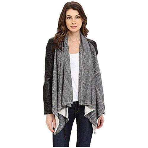 (ブランクニューヨーク) Blank NYC レディース アウター ジャケット Vegan Leather Sleeved French Terry Drape Front Jacket 並行輸入品  新品【取り寄せ商品のため、お届けまでに2週間前後かかります。】 表示サイズ表はすべて【参考サイズ】です。ご不明点はお問合せ下さい。 カラー:Grey/Black