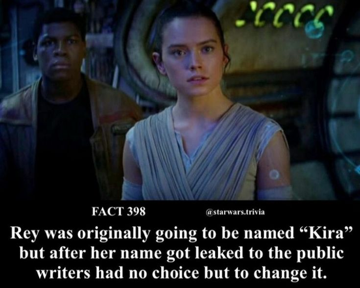 I like Rey more // Star Wars Facts