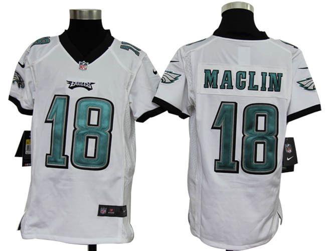2012 Youth Nike NFL Philadelphia Eagles 18 Jeremy Maclin White Jerseys