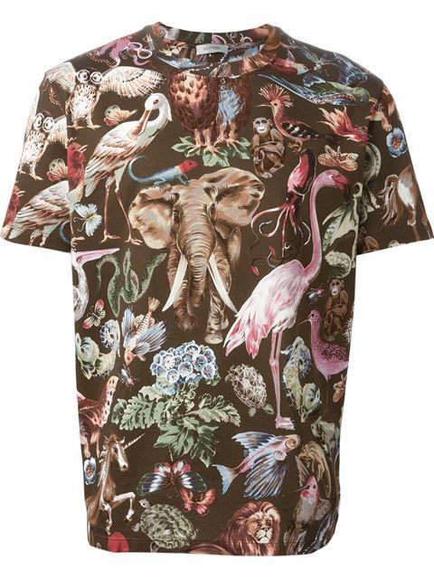 Valentino Camiseta Animal Print - Luisa World - Farfetch.com