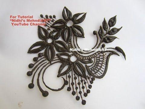 Beautiful Flowery Henna Mehndi Design Patch Tattoo Tutorial - YouTube