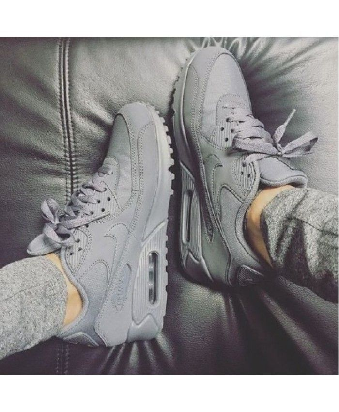 Cheap Hot Nike Air Max 90 Gray Space Trainer UK