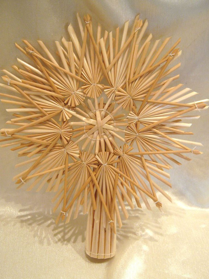 17 best images about bamboo crafts on pinterest weaving - Christbaumspitze basteln ...