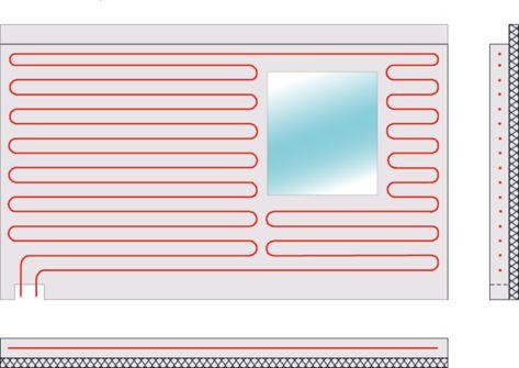 Die einzelnen Elemente werden geschosshoch gefertigt. Die möglichen Wandstärken für Außenwände betragen 20,0 cm; 24,0 cm und 17,5 cm; für Innenwände 15,0 cm; 17,5 cm; 20,0 cm und 24,0 cm.  Die Klimawandelemente bestehen aus haufwerksporigem Leichtbeton. Dieser ist als Baustoff ideal geeignet - er dämmt und speichert die Wärme und hat dazu hervorragende Schallschutzeigenschaften. Die Oberflächen sind planeben und planparallel.#Klimawand#Heizen#Kühlen