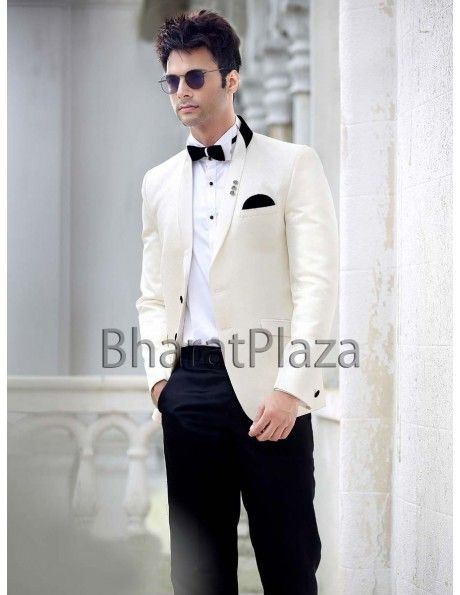 Captivating Cream Blazer Suit. http://www.bharatplaza.com/b-fash/all-time-hits.html
