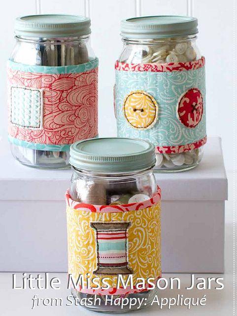Sew Mason Jar Covers - Free Pattern