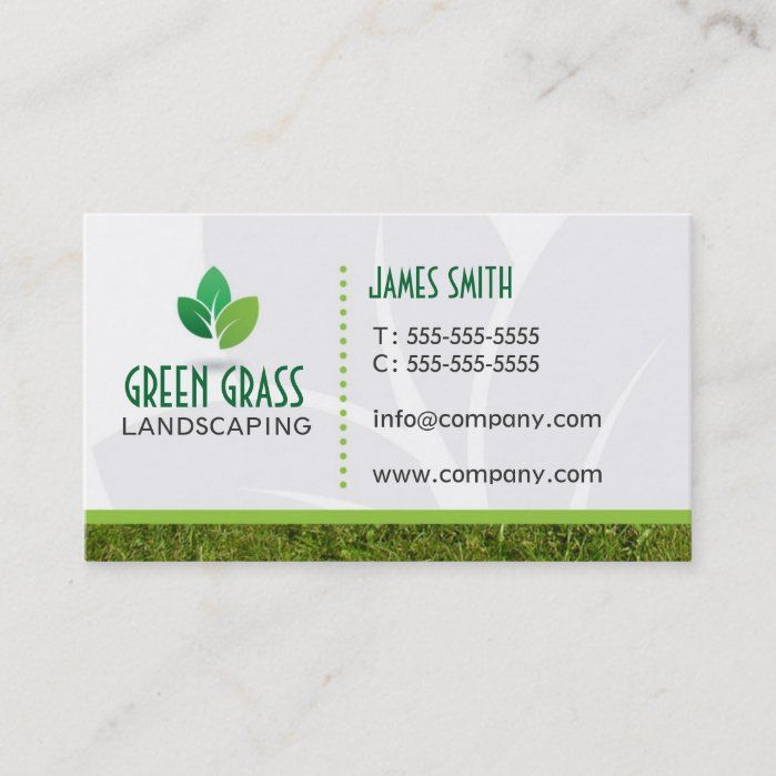 Landscaping Professional Business Card Zazzle Com In 2021 Landscaping Business Cards Professional Business Cards Landscaping Business