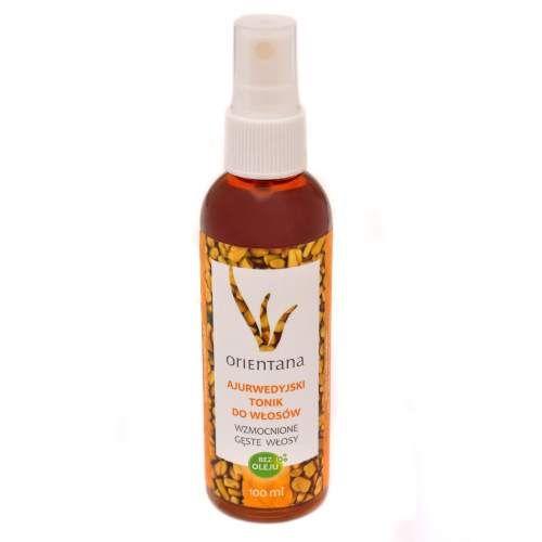 Orientana - Naturalny tonik do wzmocnienia włosów stworzony według zasad ajurwedy. Zawiera ekstrakty z roślin indyjskich. Nie zawiera olejków.