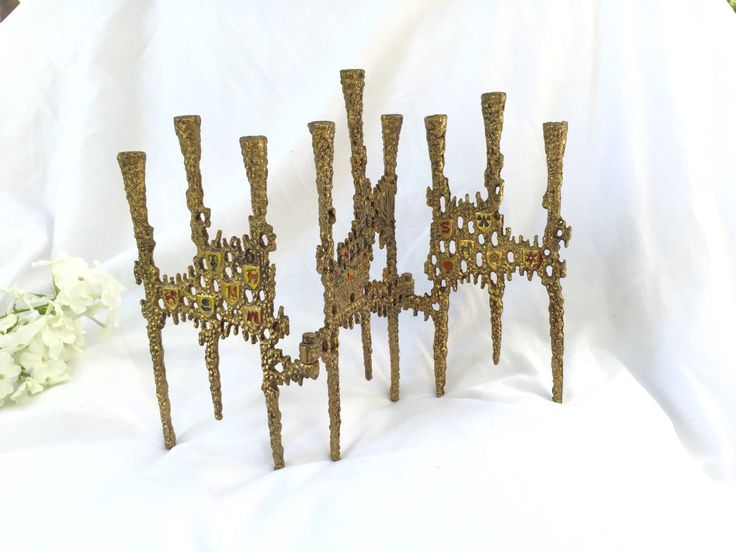 A personal favorite from my Etsy shop https://www.etsy.com/ca/listing/245713304/menorah-mid-century-brutalist-candle