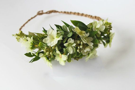 In the white garden floral headband floral by FlorangeDeXeni