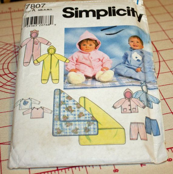 Hey, I found this really awesome Etsy listing at https://www.etsy.com/listing/255891661/simplicity-7807-sewing-pattern-babies