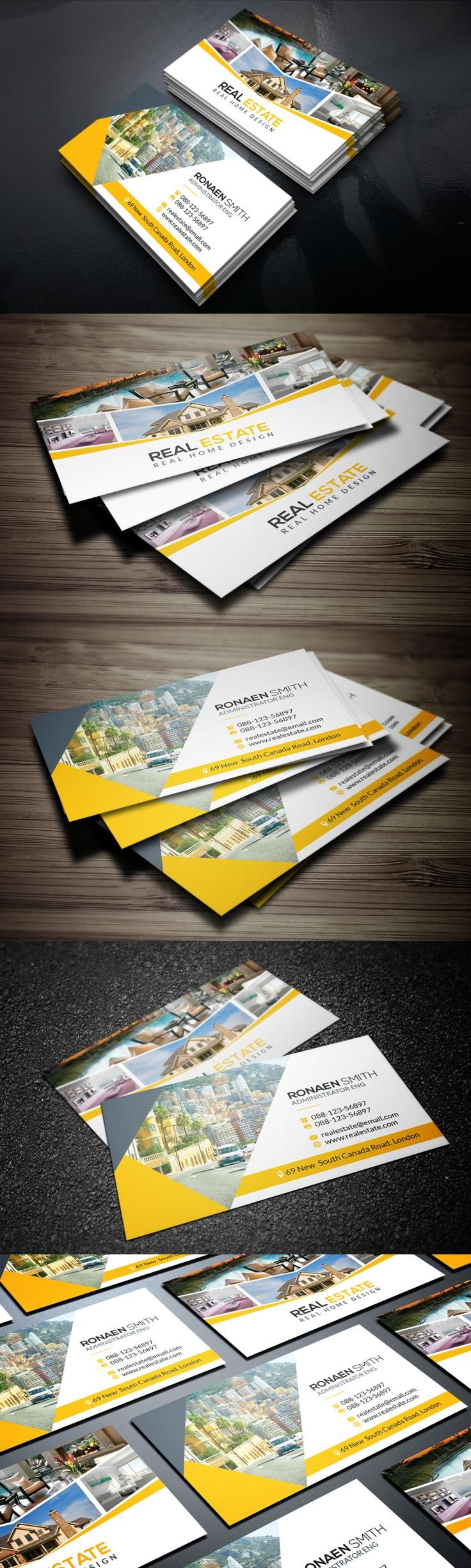47 best corporate business cards images on pinterest corporate real estate business card reheart Images