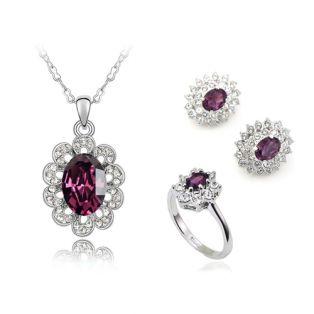 Set bijuterii cu Swarovski Completely Amethyst