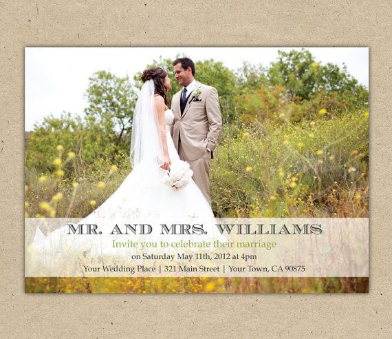 Picture Wedding Invitations PDF Modern design by Bejoyfulpaper, $20.00