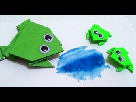 Jak zrobić: Skaczącą żabkę z papieru #origami #frog