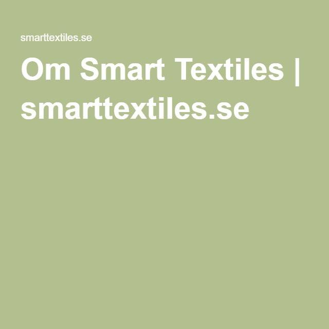 Om Smart Textiles | smarttextiles.se