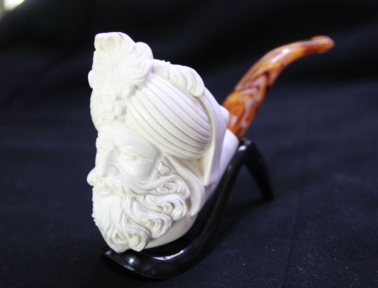 HAND CARVED MEERSCHAUM TURKISH PIPE