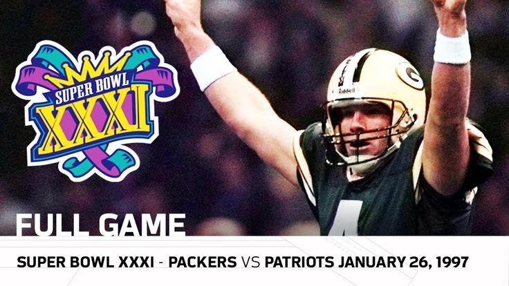 Brett Favre's First Super Bowl Win!   Packers vs. Patriots Super Bowl XX...