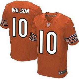 873868d3e ... Chicago Bears 10 Marquess Wilson Orange Alternate NFL Nike Elite Mens  Jersey ...