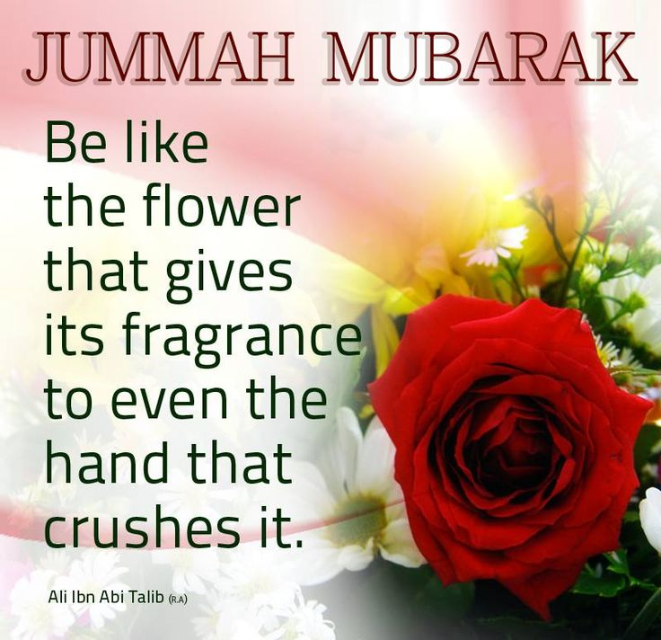 Jummah Mubarak to all