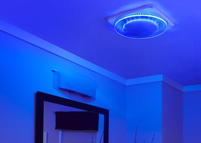 New Line Of Ventilation Fans From Broan NuTone Incorporates Both A Bright  Task Light And Soothing Blue LED Nightlight.