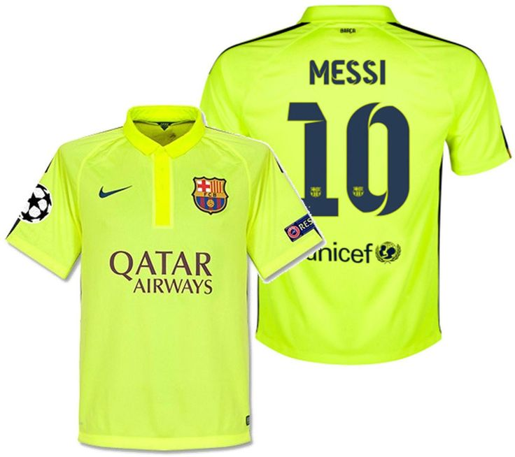 NIKE L. MESSI FC BARCELONA CHAMPIONS LEAGUE AUTHENTIC 3RD MATCH JERSEY 2014/15.