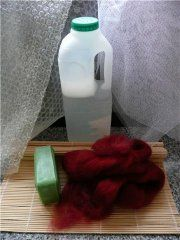 step by bstep on how to make felt with the wet felting method