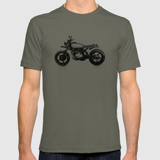 Vintage Scrambler T-shirt. #vintage #scrambler #Motorbike #sketch
