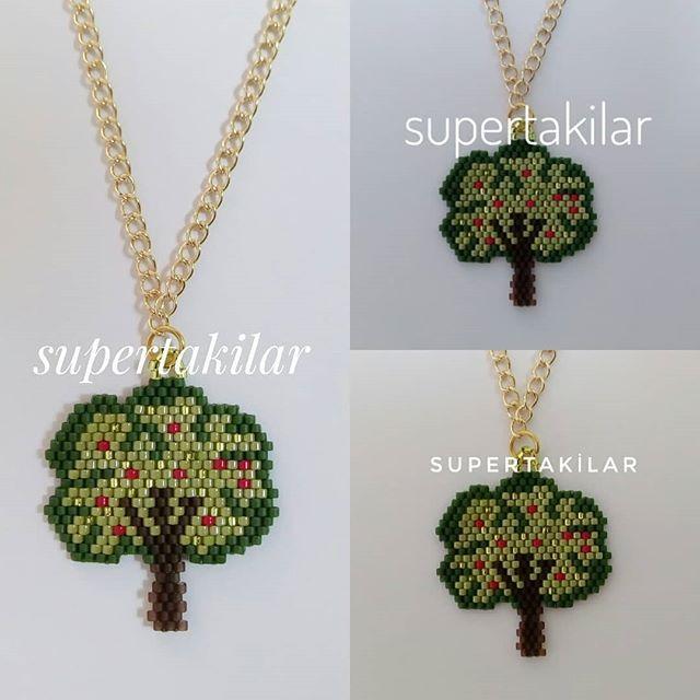 Doğayı Sev, Yeşili Koru Designed by @supertakilar Kendi tasarımım.. #miyuki #handmade #supertakilar #doğa #yeşil #ağaç