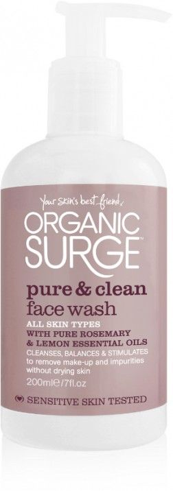 Organic Surge Pure & Clean Face Wash:  With its 100% natural foaming action, this skin-balancing Organic Surge Pure & Clean Daily Face Wash rinses away make-up and impurities with...