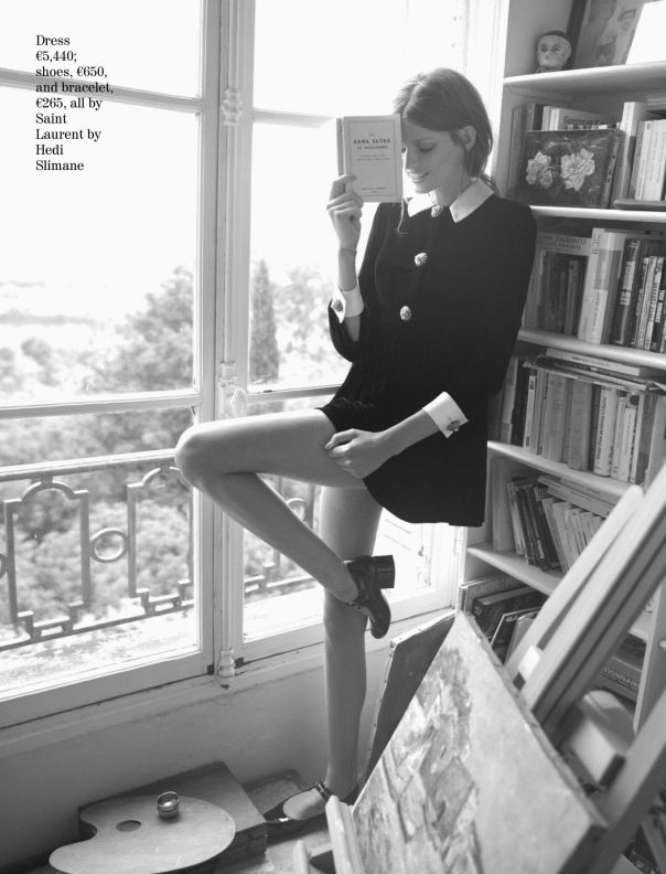 Bette Franke by David Bellemere for Porter Magazine #4 Fall 2014 - yves saint laurent outfit - <3 this - editorials