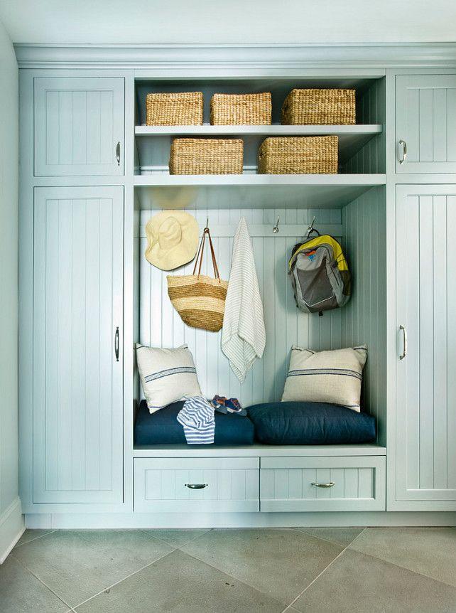 Mudroom Cabinet. Beadboard Mudroom Cabinet. #Mudroom #Cabinet #BeadboardCabinet Andrew Howard Interior Design.
