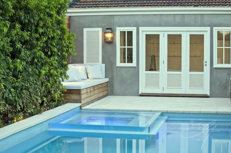 Pool side in one of our classical gardens - Eugene Gilligan Garden Design