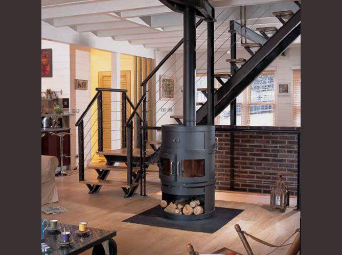 25 b sta installation poele a bois id erna p pinterest. Black Bedroom Furniture Sets. Home Design Ideas