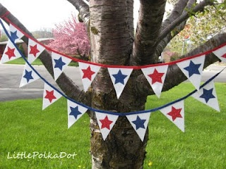 Nap Time Journal: 4th of July Pennant Flag Star Banners