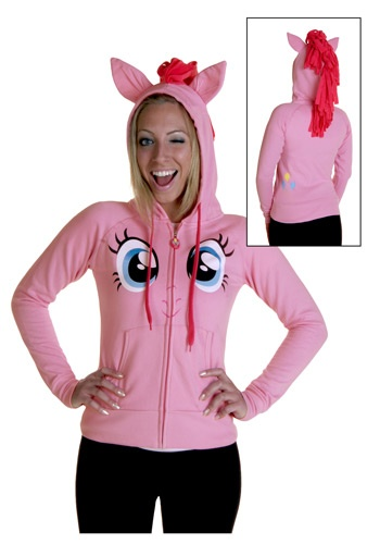 My Little Pony Pinkie Face Hoodie. Nico I hope you like your christmas present!