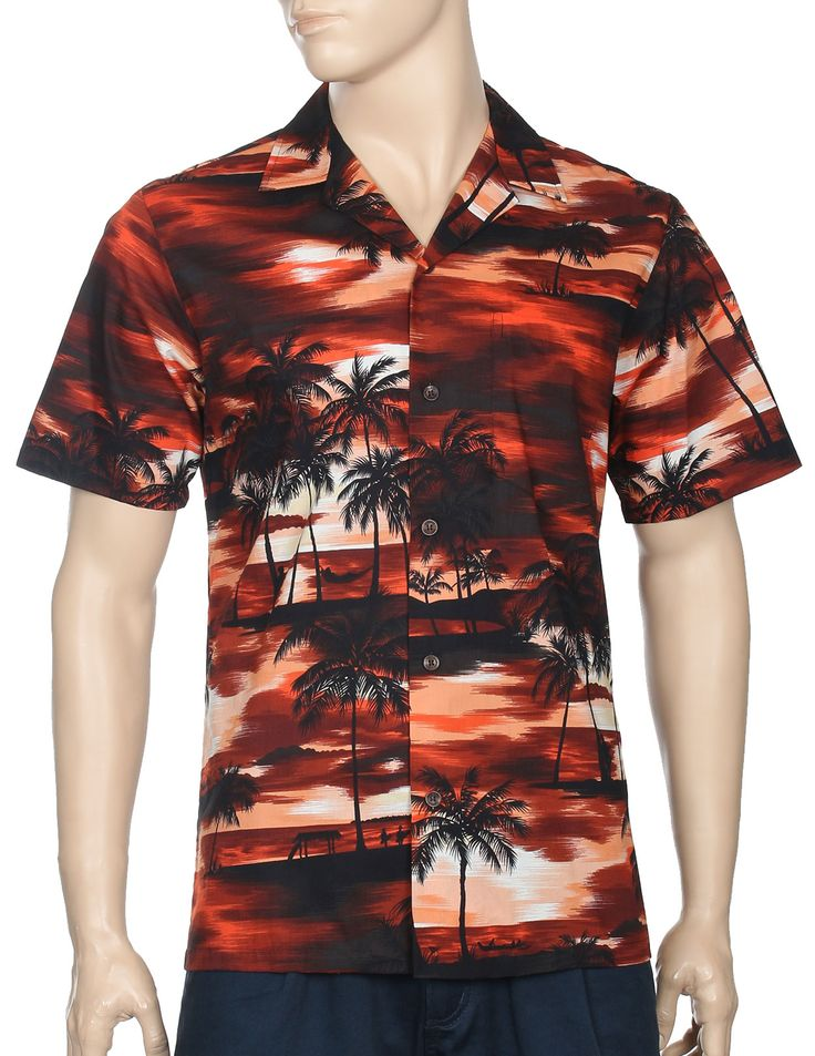 Check out the deal on Cool Island Sunset Paradise Men's Shirts at Hawaiian Wedding Place
