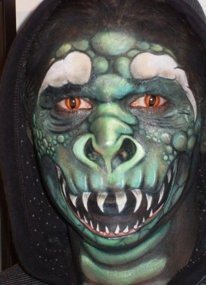 Wow...face painting by mistress demise