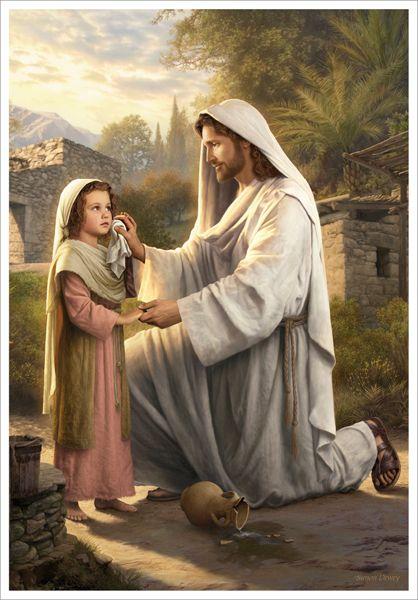 Картинка иисус держит за руку