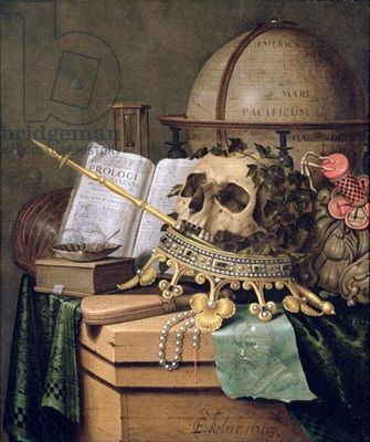 Evert Collier. Vanitas, (an allegorical still life)  Layers of meaning...
